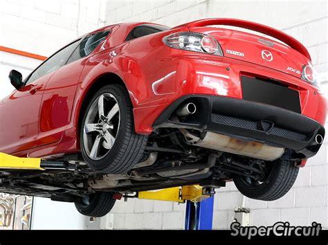 mazda rx8 cat supercircuit exhaust pro shop mazda rx8 cat deleted