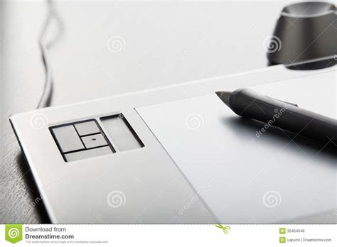 Pen Table by Graphic Tablet Royalty Free Stock Image Image 30454646