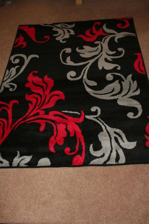 damask bathroom rug modern red grey black damask extra large rug cheap red