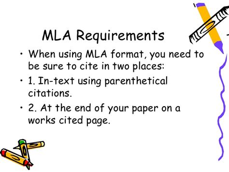 ppt cross referencing using mla format powerpoint presentation