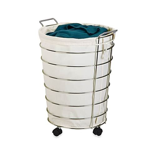 Honey Can Do 174 Rolling Laundry Her In Canvas Chrome Rolling Laundry