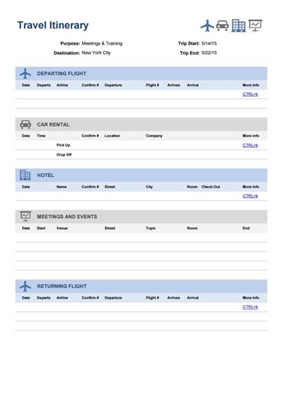 Travel Itinerary Template Free Download Create Edit Fill And Print Wondershare Pdfelement Template Editor Free