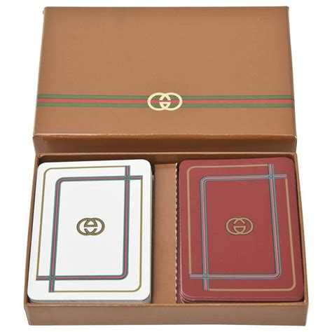 Gucci Gift Card - set of vintage gucci playing cards at 1stdibs