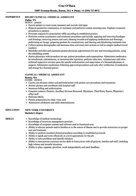 medical assistant resume example unique resume sample receptionist
