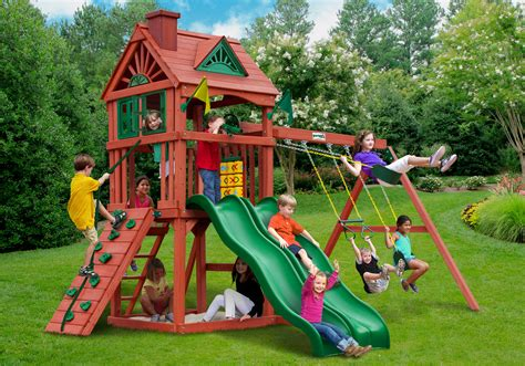 gorilla wooden swing sets home swing set paradise