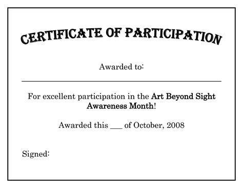 certificate of participation template ppt gallery of 14 free pageant certificate templates for your