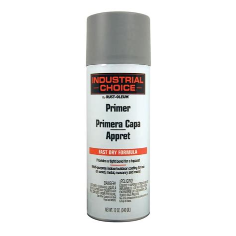 shop rust oleum 12 oz gray primer flat spray paint at lowes