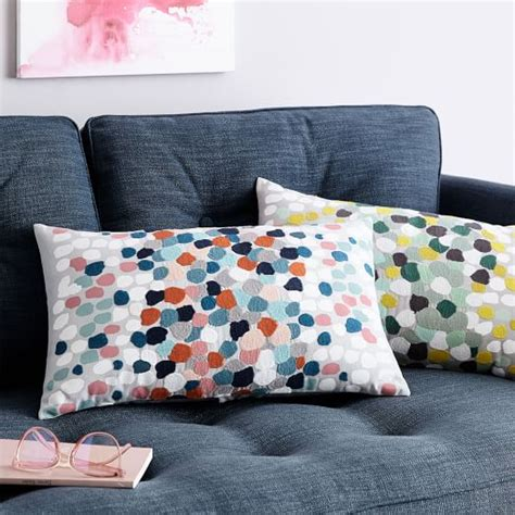 Embroidered Pillow Cover by Embroidered Confetti Pillow Cover West Elm