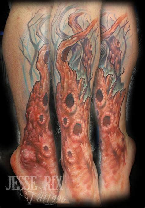 old tree tattoo dead tree by rix tattoonow