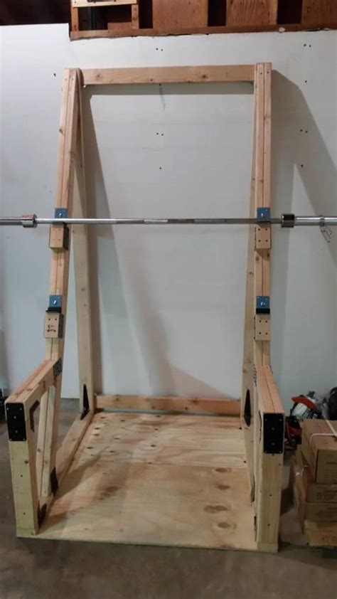 healthy  easy   homemade squat rack ideas