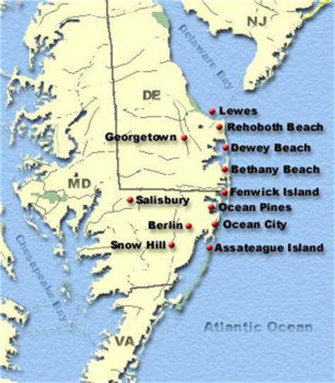 maryland map beaches delmarva map our beachy destination maryland and