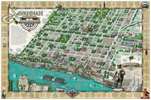 Savannah Bed And Breakfast Savannah Map
