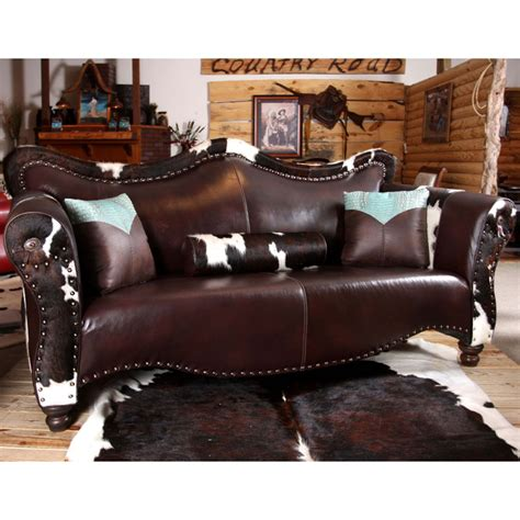 cowhide couch cowhide leather furniture pinterest
