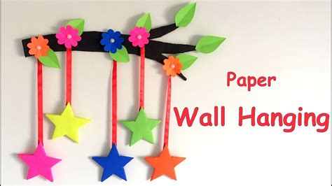 Paper Craft Decoration Home - diy wall hanging from paper paper craft card board