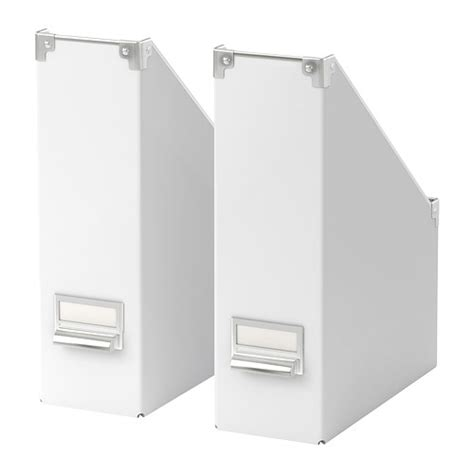 ikea magazine 2 x ikea kassett magazine file rack storage box white ebay