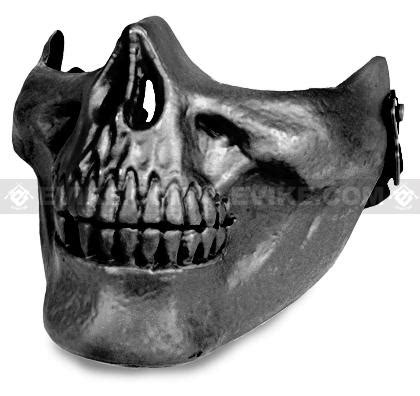 "avengers ""skull"" iron face lower half mask (silver grey"