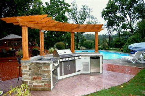 home design outdoor kitchen and pool house project amazing