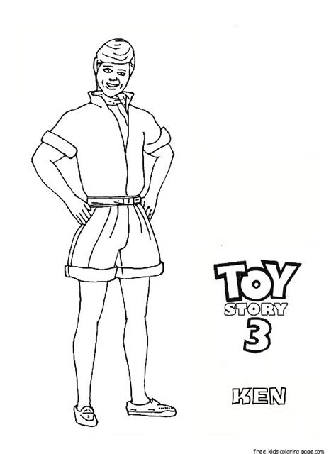 ken doll coloring page ken toy story 3 free printable coloring pages for kids