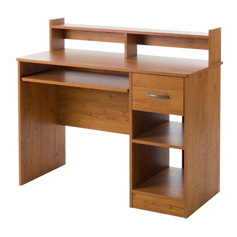 south shore axess desk south shore axess desk with keyboard tray country pine