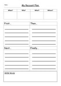 diary writing template ks1 ks1 recount plan template by graygray2010 teaching