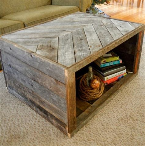 Coffee Table Made Of Pallets Pallet Coffee Table In Bold Also Cube Shaped Design With Storage Feature And Chevron Top Pattern