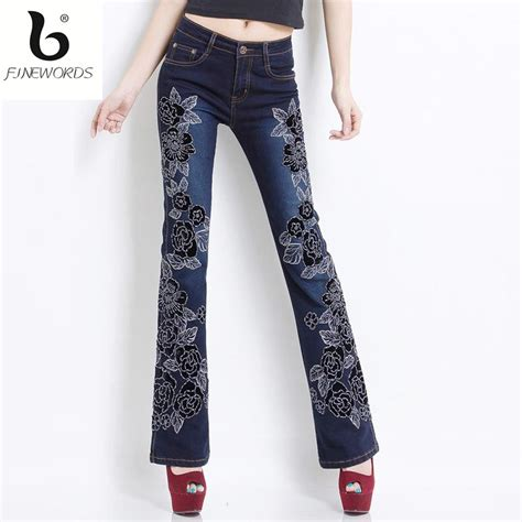 2017 Retro Style Flower Handmade - popular embroidered denim buy cheap embroidered