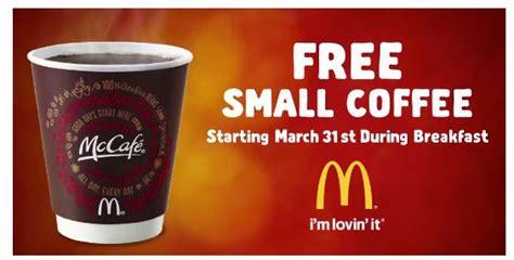 Coffee Di Mcd free coffee at mcdonald s startng 3 31 cincyshopper