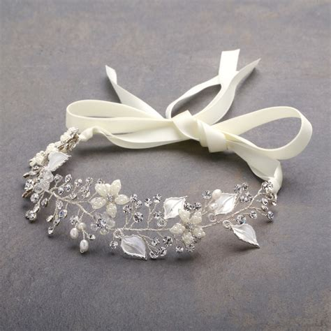 Ribbon Headband bridal ribbon headbands bridal heirlooms