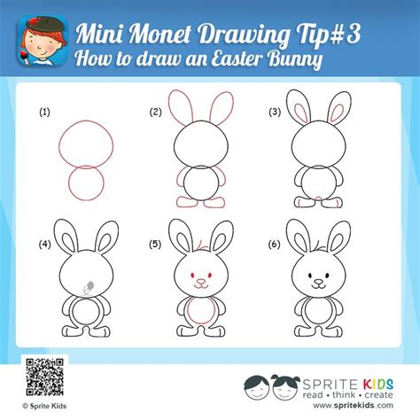 how to an easter bunny mini monet drawing tip 3