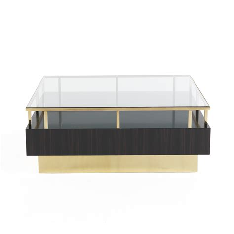 Contemporary Coffee Table Uk Contemporary Veneered Luxury Brass Coffee Table Juliettes Interiors