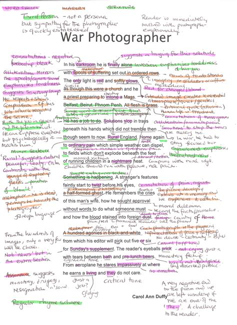 Annotated Essay by Gillian Duff S Resources National 5 And Higher Support