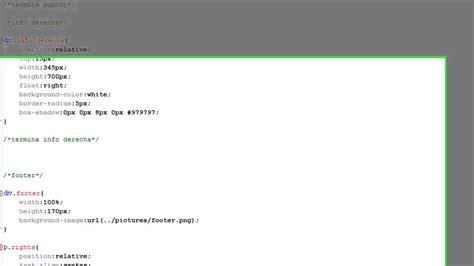 tutorial html y css en español tutorial html y css crear un footer web pie de pagina