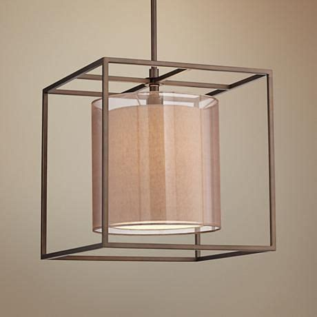 Cube Pendant Light Conroe Rubbed Bronze Metal Cube 18 Quot Wide Pendant Light Pendant Lighting