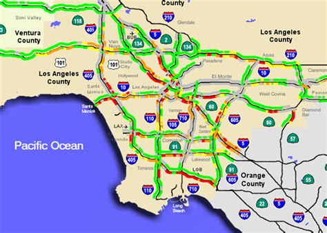 la live map los angeles traffic map car interior design