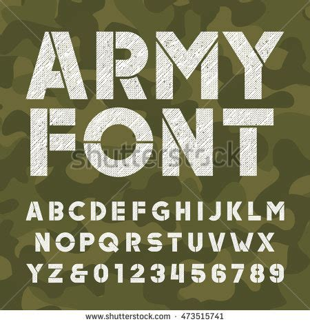 army pattern font army stock images royalty free images vectors