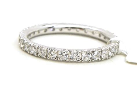 18k white gold diamonds eternity wedding band ring