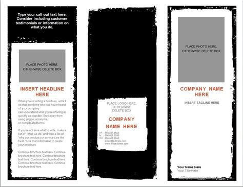 tri fold brochure templates word resume template microsoft word tri fold brochure