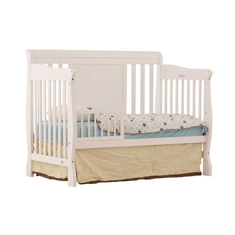 Fixed Side 4 In 1 Convertible Crib In White 04587 481 Convertible White Cribs