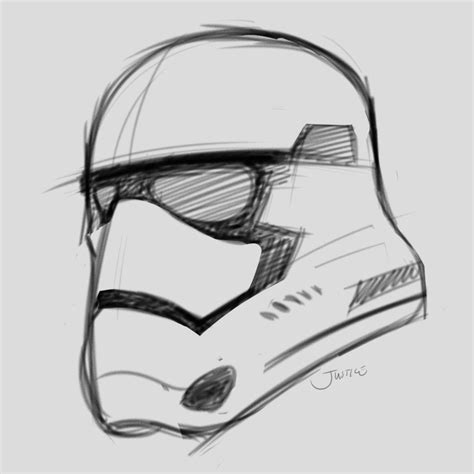 stormtrooper helmet sketch www imgkid com the image