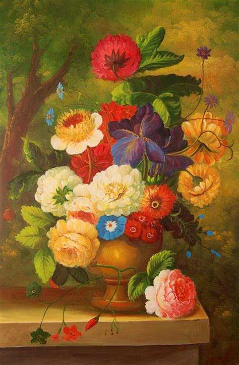 natura morta con fiori falso di autore natura morta con fiori di sconosciuto in