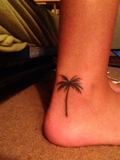 small foot tattoos pinterest palm tree small ankle foot nautical tattoos