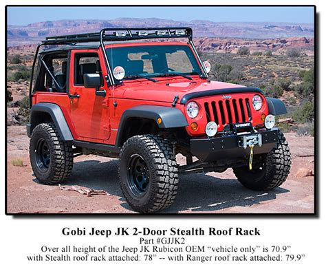 Jeep Jk Roof Rack Gobi Jeep Wrangler Jk 2 Door Stealth Roof Rack Free