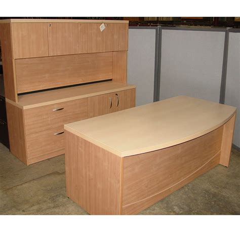 dallas office furniture pre owned bow front desk set