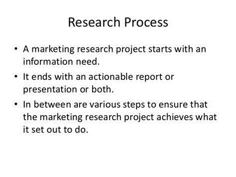 Market Research Mba Projects by Mba Ii Rm Unit 2 1 Research Process A
