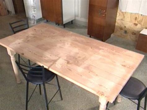 Make A Kitchen Table Build A Diy Wood Table How Tos Diy