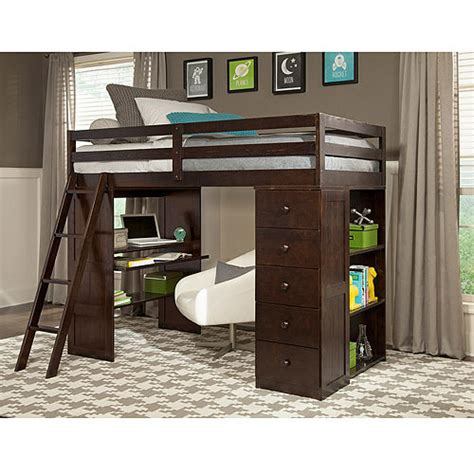Bed Loft Desk by Canwood Skyway Loft Bed With Desk Storage Tower