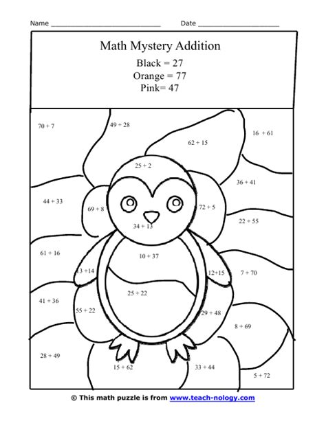 free printable owl worksheets mystery owl addition worksheet