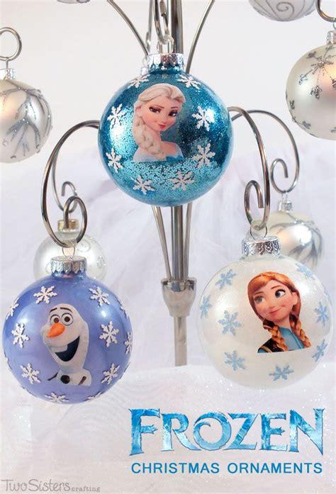 diy frozen christmas ornaments frozen projects frozen