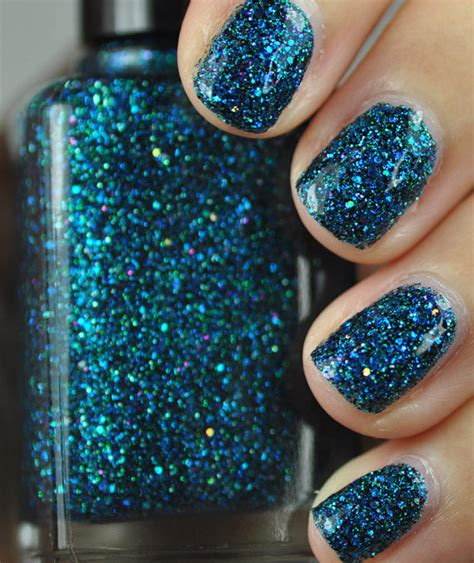 Glitter Nail Polishes by Sea Creature Blue And Green Glitter Nail 15ml 5oz