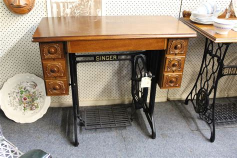 early singer base side table restored with new top